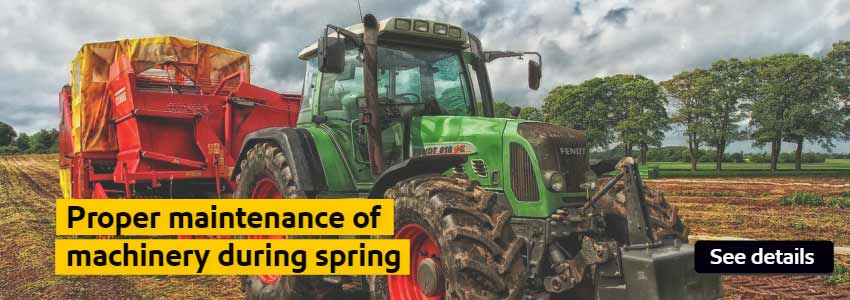 Proper maintenance of machinery during spring