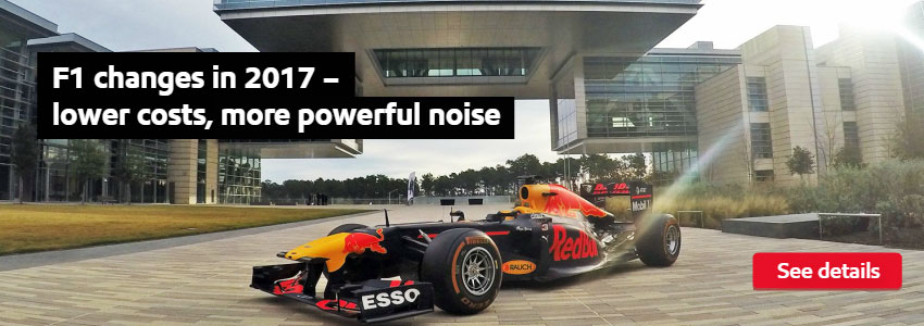F1 changes in 2017 - lower costs, more powerful noise