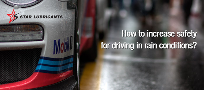 How to increase safety for driving in rain conditions?