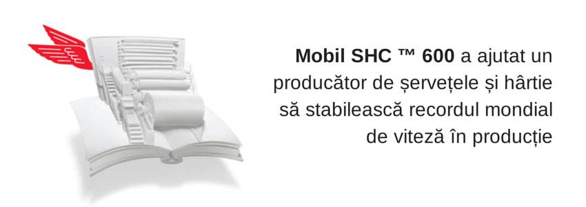 Mobil SHC 600 a ajutat un producător de șervețele și hârtie să stabilească recordul mondial de viteză în producție