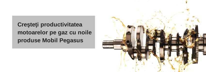 Creşteţi productivitatea motoarelor pe gaz cu noile produse Mobil Pegasus