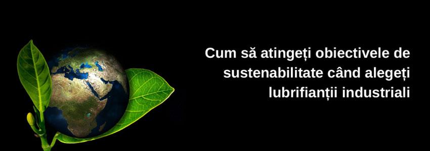 Cum să atingeți obiectivele de sustenabilitate când alegeți lubrifianții industriali