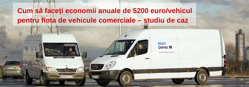 Cum să faceți economii anuale de 5200 euro/vehicul pentru flota de vehicule comerciale