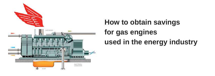 How to obtain savings for gas engines used in the energy industry