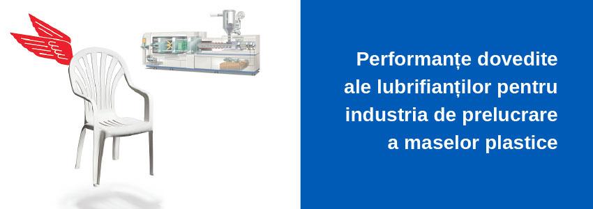 Performanțe dovedite ale lubrifianților pentru industria de prelucrare a maselor plastice