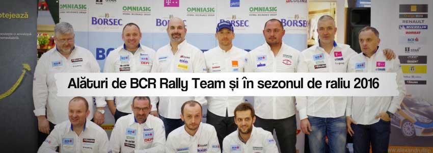 Alături de BCR Rally Team și în sezonul de raliu 2016