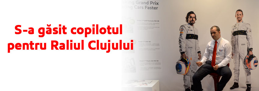 La Materom 2016 s-a găsit copilotul pentru Raliul Clujului