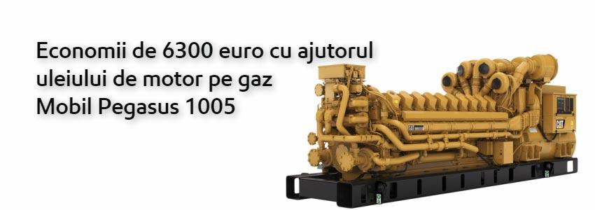Economii de 6300 euro cu ajutorul uleiului de motor pe gaz Mobil Pegasus 1005