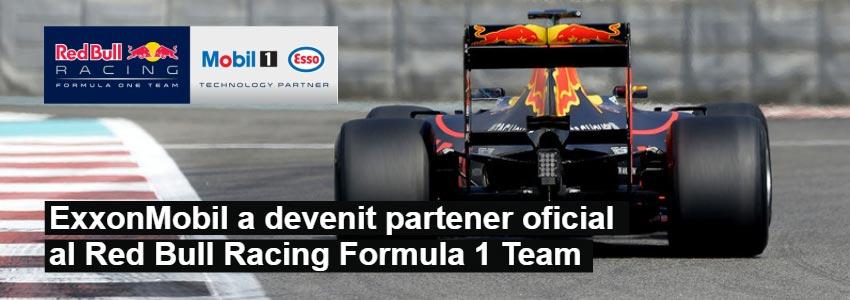 ExxonMobil a devenit partener oficial al Red Bull Racing Formula 1 Team