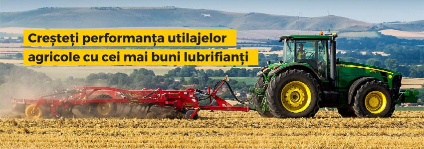 Creșteți performanța utilajelor agricole cu cei mai buni lubrifianți