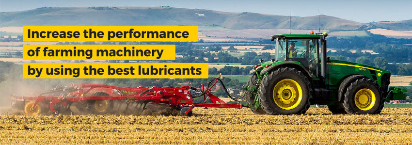 Increase the performance of farming machinery by using the best lubricants