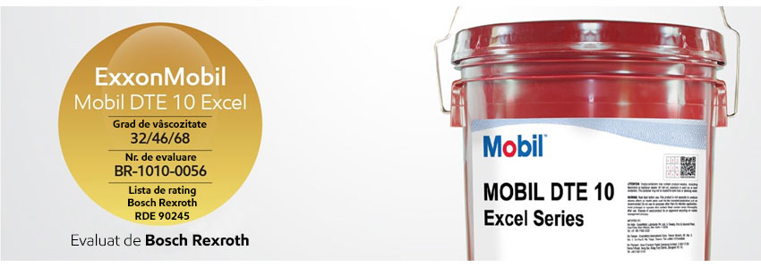 Fluidul hidraulic fără zinc Mobil DTE 10 Excel<sup>TM</sup> - aprobat de Bosch Rexroth