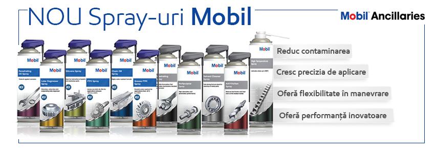 Spray-urile Mobil – performanță într-un ambalaj intuitiv